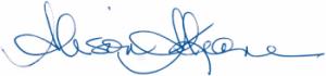 Alison Keane signature