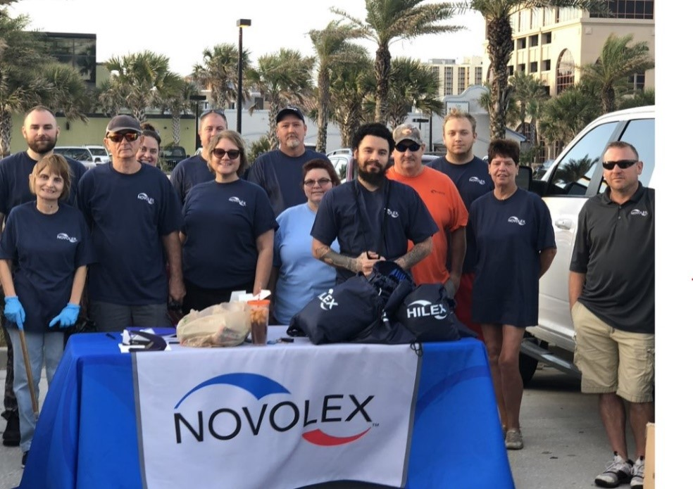 Novolex Workers Help With Beach Clean-Up